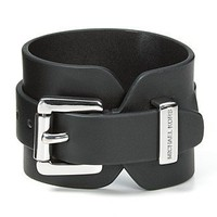 MICHAEL Michael Kors Black Leather Cuff Bracelet - Jewelry &amp; Accessories - Bloomingdales.com