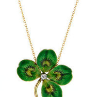 Doyle & Doyle | Gift: Enamel & Diamond Clover Necklace