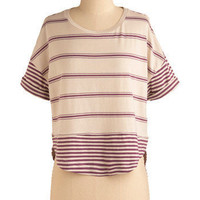 Hype Over Stripes Top | Mod Retro Vintage Short Sleeve Shirts | ModCloth.com