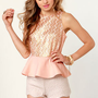 Sparkling Lot Gold and Light Pink Glitter Top