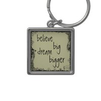 Vintage Inspiring Quote Keychain from Zazzle.com