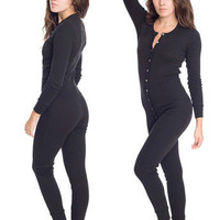 Unisex Rib Henley One-Piece | Shop American Apparel
