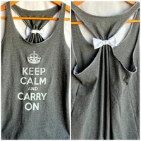 Keep Calm And Carry On Bow Tank - M.. on Luulla