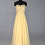 A-line Sweetheart Sleeveless Floor-length Chiffon Prom Dress With Rhinestone Free Shipping