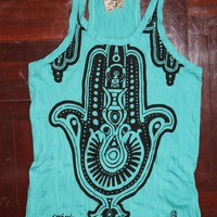 Women&#x27;s T Shirt Hamsa Hand Yoga Clo.. on Luulla