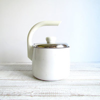Vintage White T-Fal Tea Pot Kettle