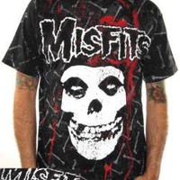 ROCKWORLDEAST - The Misfits, T-Shirt, Bones, All Over Print