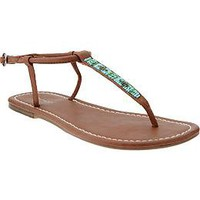 Women's Beaded T-Strap Sandals | Old Navy