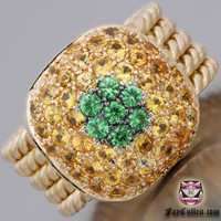 Rings - Heavy Tsavorite Citrine Ring