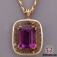 Necklaces - Vintage Amethyst Necklace