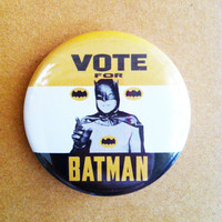 "Vote for Batman - 1.75"" Badge / Button"