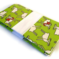 Christmas Business Card Case Duck Tape Green Reindeer Patterned Wallet