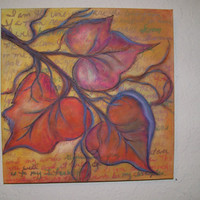 "Art, Mixed Media Painting, ""I Am the Vine"""