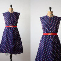 1970s dress - chevron day dress