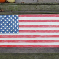 OOAK 2x4 foot American Flag. Made To Order. Wooden Flag. Wall Hanging