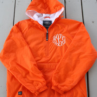 Monogrammed Half Zip Pullover Rain Jacket