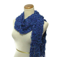 Blues 'n Stuff Hand Knit Scarf