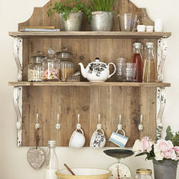 country style wooden shelf unit by primrose & plum | notonthehighstreet.com