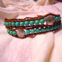 Mermaid Leather Wrap Bracelet