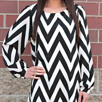 Black & White Chevron Tunic