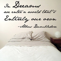 Dumbledore Dreams Quote Wall Decal Harry Potter