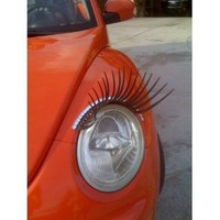 Round Black CarLashes for VW Beetle, Jeep Liberty, Mini Cooper : Amazon.com : Automotive