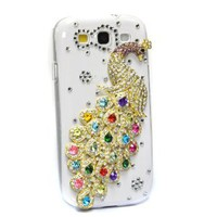Amazon.com: Kingmys Bling Diamond Colorful Peacock Crystal Hard Case For Samsung Galaxy S3 SIII i9300: Cell Phones & Accessories