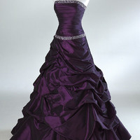 2012 Style Trumpet / Mermaid Sweetheart Beading Sleeveless Floor-length Taffeta Prom Dresses / Evening Dresses