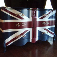 Waving Union Jack Dressers / Buffets