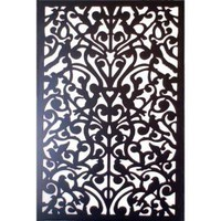 1/4 in. x 32 in. x 4 ft. Black Ginger Dove Vinyl Decor Panel-3248PVCBK-GNDV at The Home Depot