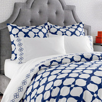 Jonathan Adler Bedding Hollywood Navy Duvet Cover or Set