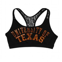 University of Texas Lace Yoga Bra