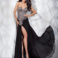 2012 Sweetheart Black Beaded Evening dress Prom Ball Formal Party Dress Gown