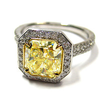 310ct Antique Vintage GIA FANCY YELLOW Radiant by TreasurlybyDima