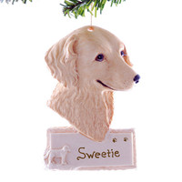 Retriever Golden personalized resin Christmas ornament loyal golden retriever ornament is handmade in the USA