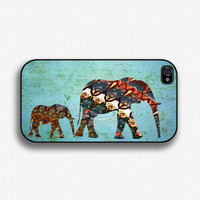 Mama Elephant and Baby Elephant design- iPhone 4 Case, iPhone 4s Case, and iPhone 5