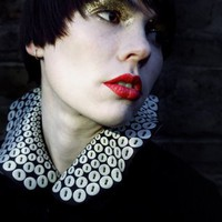 Pearly of Soho Silk Collar