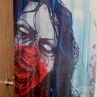 RW2 ZOMBIE Shower Curtain Cloth Shower Scene by Robert Walker Goth ...
