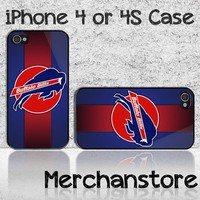 Buffalo Bills NFL Team Logo Custom iPhone 4 or 4S Case Cover