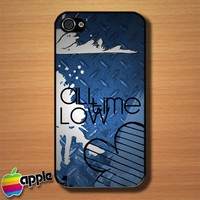 All Time Low Rock Band Logo Custom iPhone 4 or 4S Case Cover