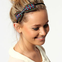 Jessica Multi Aztec Bow Headband