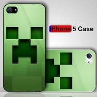 Minecraft Creeper Custom iPhone 5 Case Cover