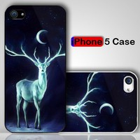 Stag at The Moon Custom iPhone 5 Case Cover