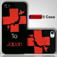Red Cross Japan Relief Custom iPhone 5 Case Cover