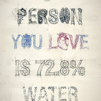 The Person You Love Is 72.8% Water Art Print by Teagan White | Society6