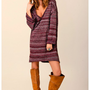 Blu Moon - Cozy V-Neck Sweater Dress