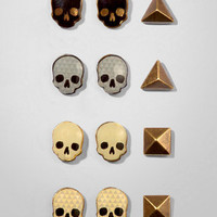 Skull Stud Earring Pack