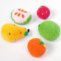 Poketo Knit Fruit Rattles Set