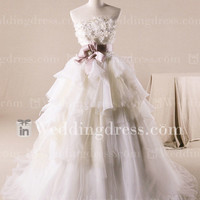 Wedding Gown with Basque Waist