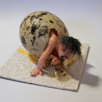 Erotic Nude Egg Clay Sculpture by carpanedaunderground on Etsy